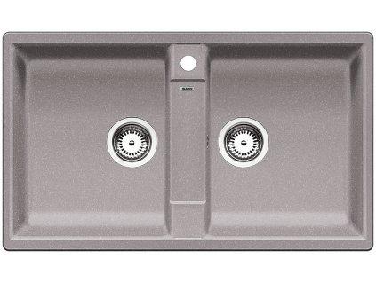 Granitový dřez Blanco ZIA 9 Silgranit aluminium oboustranné provedení 516677