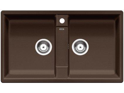 Granitový dřez Blanco ZIA 9 Silgranit kávová oboustranné provedení 516683