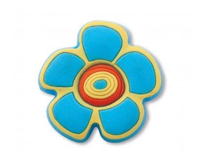 Nábytková dětská úchytka Květinka modrá