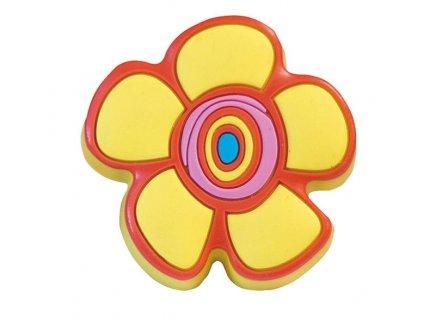 Nábytková dětská úchytka Květinka žlutá
