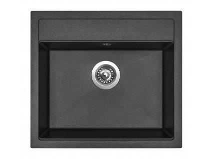Granitový dřez Sinks SOLO 560 Metalblack