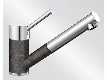 Kuchyňská baterie Blanco ANTAS-S ND Silgranit-look dvoubarevná antracit/chrom beztlaková