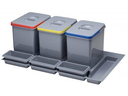 Odpadkový koš Sinks PRACTIKO 900 3x15l