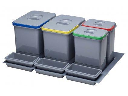 Odpadkový koš Sinks PRACTIKO 800 2x12l+2x5l