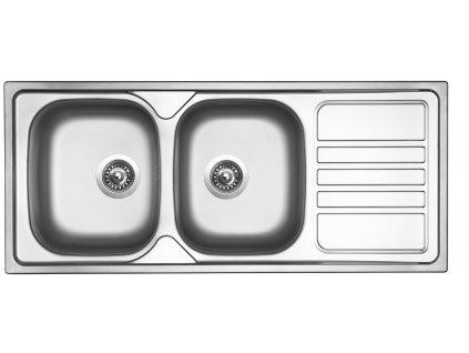 Nerezový dřez Sinks OKIO 1160 DUO V 0,6mm matný