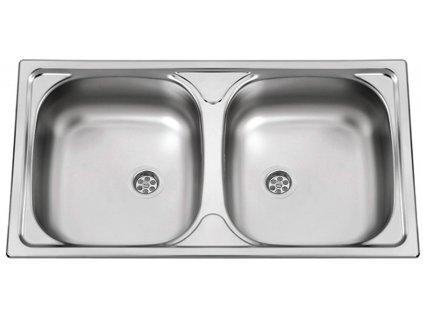 Nerezový dřez Sinks OKIO 780 DUO M 0,5mm matný