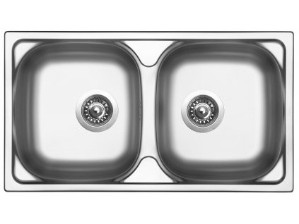 Nerezový dřez Sinks OKIO 780 DUO V 0,5mm leštěný