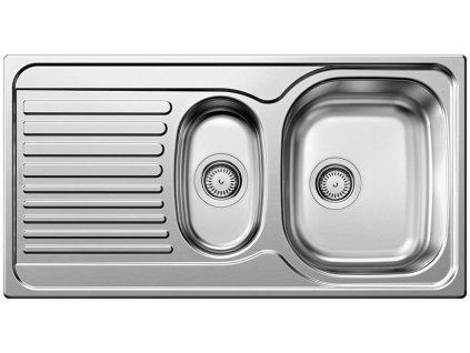 Nerezový dřez Blanco TIPO 6 S Basic Nerez kartáčovaný oboustranné provedení