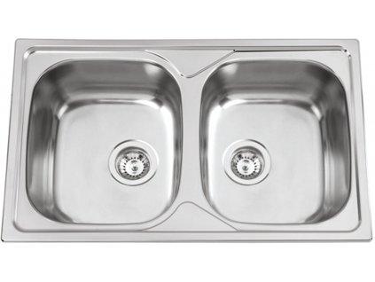 Nerezový dřez Sinks OKIO 800 DUO V 0,6mm matný