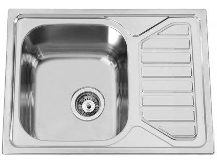 Nerezový dřez Sinks OKIOPLUS 650 V 0,7mm leštěný