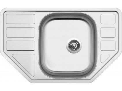 Nerezový dřez Sinks CORNO 770 V 0,6mm matný