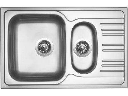 Nerezový dřez Sinks STAR 780.1 V 0,6mm matný