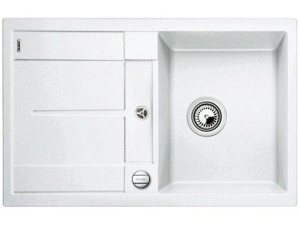 Granitový dřez Blanco METRA 45 S Silgranit bílá oboustranné provedení s excentrem 513028