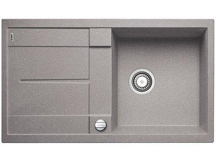 Granitový dřez Blanco METRA 5 S Silgranit aluminium oboustranné provedení s excentrem 513036