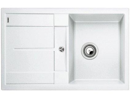 Granitový dřez Blanco METRA 45 S Silgranit bílá oboustranné provedení bez excentru 513187