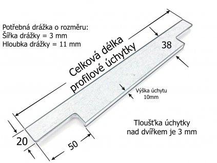 profilova nabytkova uchytka flat cerna