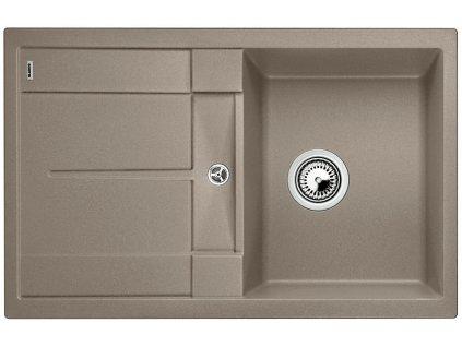 Granitový dřez Blanco METRA 45 S Silgranit tartufo oboustranné provedení bez excentru 517346