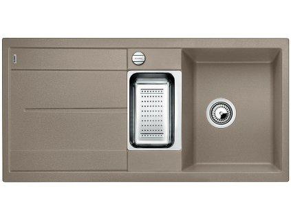 Granitový dřez Blanco METRA 6 S Silgranit tartufo oboustranné provedení s excent. přísluš. ano 517354