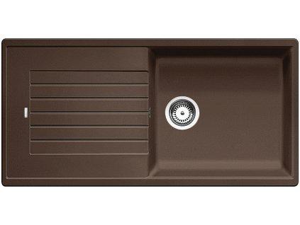 Granitový dřez Blanco ZIA XL 6 S Silgranit kávová oboustranné provedení 517577