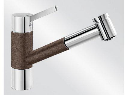 Kuchyňská baterie Blanco TIVO-S HD Silgranit-look dvoubarevná kávová/chrom