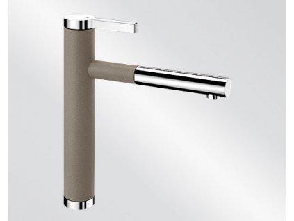 Kuchyňská baterie Blanco LINEE S Silgranit-look dvoubarevná tartufo/chrom