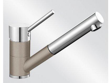 Kuchyňská baterie Blanco ANTAS-S ND Silgranit-look dvoubarevná tartufo/chrom beztlaková