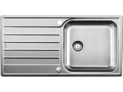 Nerezový dřez Blanco LIVIT XL 6 S Nerez kartáčovaný oboustranné provedení s excentrem