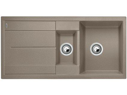 Granitový dřez Blanco METRA 6 S Silgranit tartufo oboustranné provedení přísluš. ano 517355