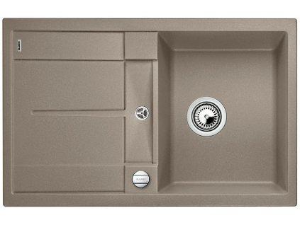 Granitový dřez Blanco METRA 45 S Silgranit tartufo oboustranné provedení s excentrem 517345