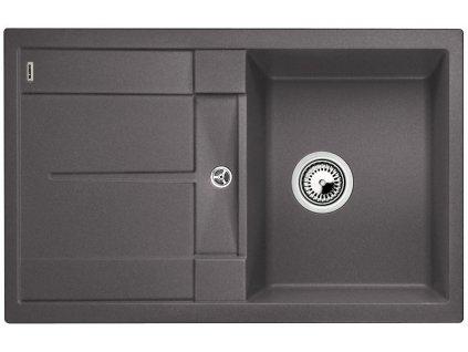 Granitový dřez Blanco METRA 45 S Silgranit šedá skála oboustranné provedení bez excentru 518869
