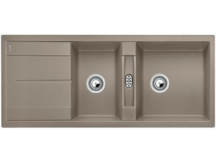 Granitový dřez Blanco METRA 8 S Silgranit tartufo oboustranné provedení 517357