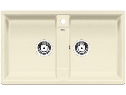 Granitový dřez Blanco ZIA 9 Silgranit jasmín oboustranné provedení 516679