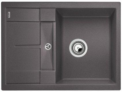 Granitový dřez Blanco METRA 45 S Compact Silgranit šedá skála oboustranné provedení 519562