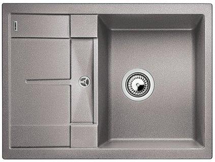 Granitový dřez Blanco METRA 45 S Compact Silgranit aluminium oboustranné provedení 519563