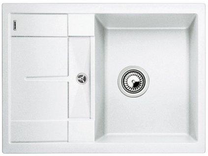 Granitový dřez Blanco METRA 45 S Compact Silgranit bílá oboustranné provedení 519565