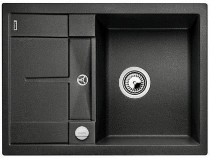 Granitový dřez Blanco METRA 45 S Compact Silgranit antracit oboustranné provedení s excentrem 519572
