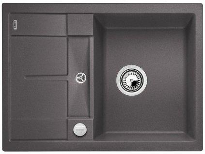 Granitový dřez Blanco METRA 45 S Compact Silgranit šedá skála oboustranné provedení s excentrem 519573