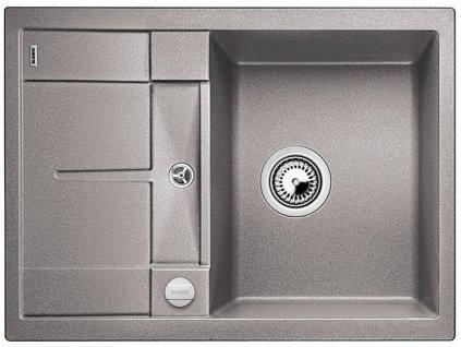 Granitový dřez Blanco METRA 45 S Compact Silgranit aluminium oboustranné provedení s excentrem 519574