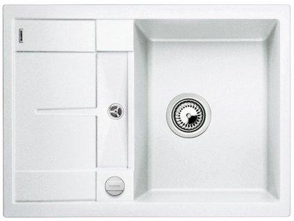 Granitový dřez Blanco METRA 45 S Compact Silgranit bílá oboustranné provedení s excentrem 519576