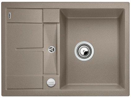 Granitový dřez Blanco METRA 45 S Compact Silgranit tartufo oboustranné provedení s excentrem 519580
