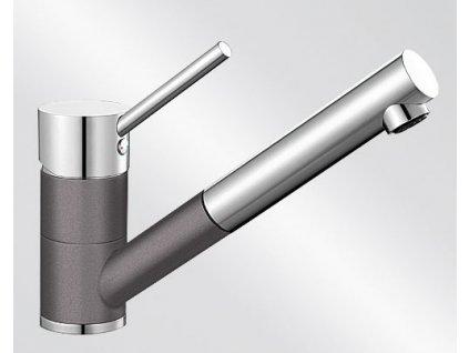 Kuchyňská baterie Blanco ANTAS-S HD Silgranit-look dvoubarevná šedá skála/chrom