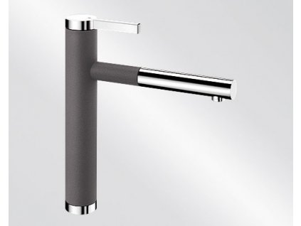 Kuchyňská baterie Blanco LINEE S Silgranit-look dvoubarevná šedá skála/chrom