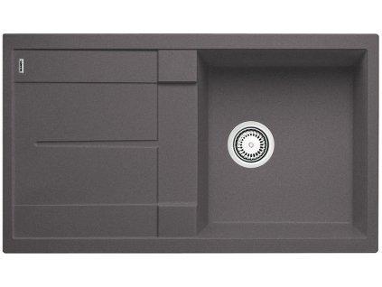 Granitový dřez Blanco METRA 5 S Silgranit šedá skála oboustranné provedení 518872