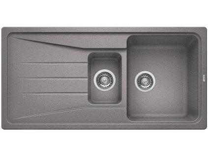 Granitový dřez Blanco SONA 6 S Silgranit aluminium oboustranné provedení 519854