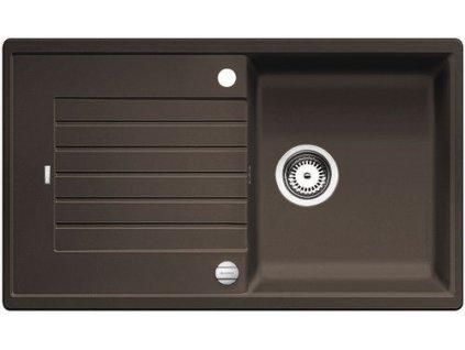 Granitový dřez Blanco ZIA 5 S Silgranit  káva oboustranné provedení s excentrem 520510