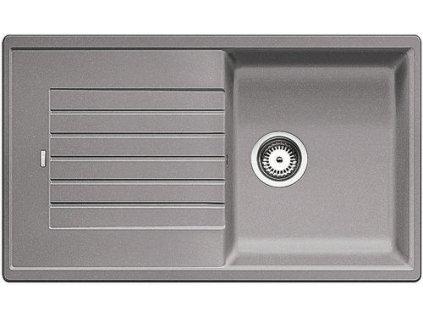 Granitový dřez Blanco ZIA 5 S Silgranit aluminium oboustranné provedení bez excentru 520513