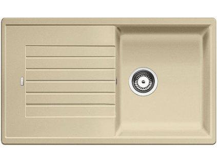 Granitový dřez Blanco ZIA 5 S Silgranit béžová champagne oboustranné provedení bez excentru 520517