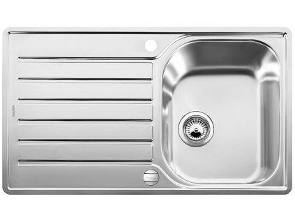 Nerezový dřez Blanco LANTOS 45 S-IF Salto nerez kartáčovaný oboustranné provedení  s excentrem