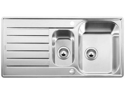 Nerezový dřez Blanco LANTOS 6 S-IF  nerez kartáčovaný oboustranné provedení  s excentrem 519719