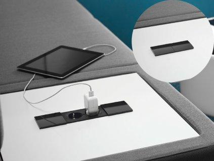 Elektro zásuvka Bachmann DUE 1x 230V a 1x uživ. modul 929.032